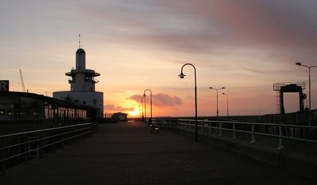 Harlingen, zonsondergang