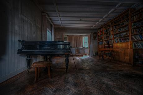 Abandoned piano room