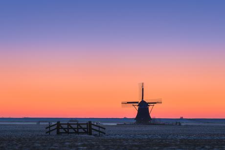 Een ijskoude ochtend in Friesland
