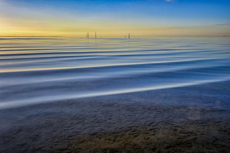 Zonsondergang - - - foto door LeonNikonZ6 op 07-03-2021 - deze foto bevat: lucht, zon, strand, zee, water, zonsondergang, landschap, kust