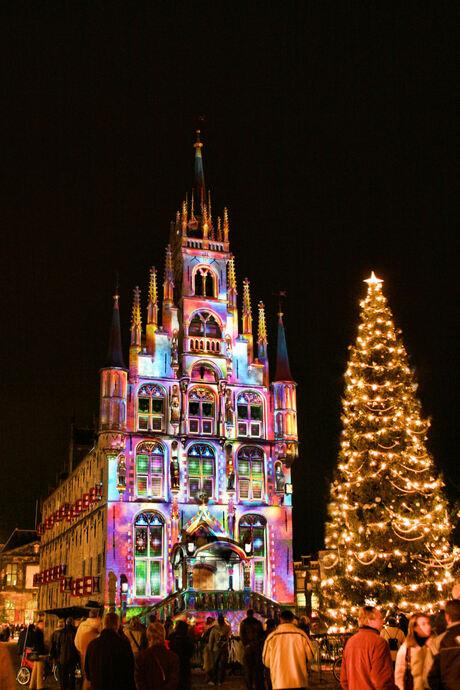 Gekleurde Kerst in Gouda