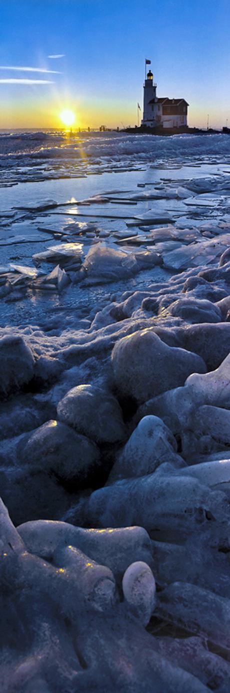Paard van Marken - Winter panorama