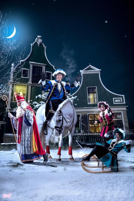 Sinterklaas op de Zaanse schans!