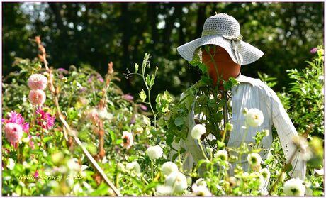 Portret van een tuinvrouw