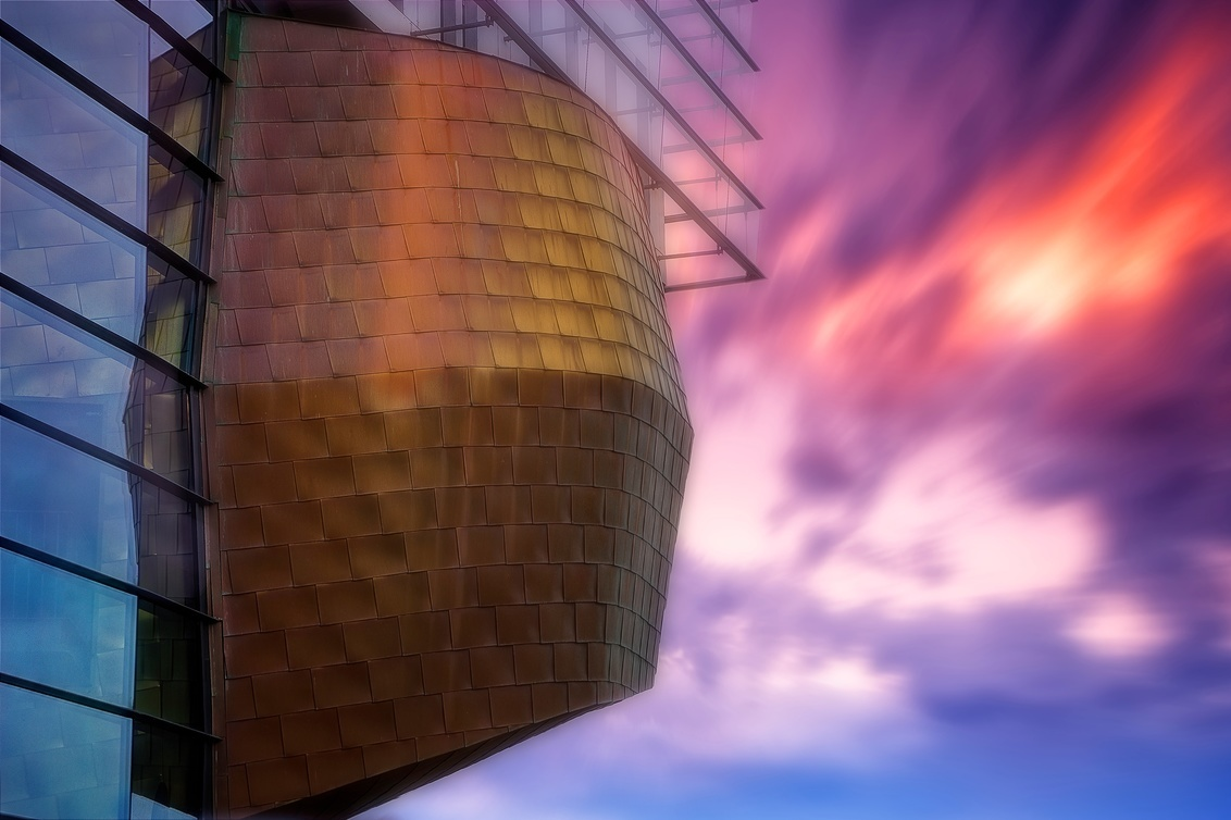 Leiden Faculty - - - foto door lcutolo op 05-03-2018 - deze foto bevat: leiden, light, glass, glow, modern, reflections, clouds, sharp, hdr, sky, architecture, brass, twilight, minimalist, flickr, high contrast, City scape, world trekker, perfect effect, slow shutter speed, modern architecture, tomapped, perfect mask, perfect layer, moving clouds, modern building, cold and warm colours, building details