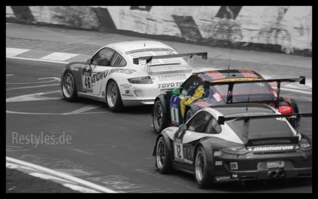 3 GT3's op de Nürburgring