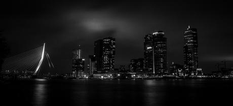 Rotterdam Skyline B&W