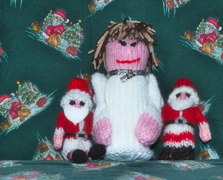 zelf gemakte kerst popjes heb mijn vrouw gemaakt
