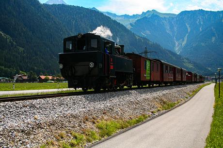 Stoomloc langs Mayrhofen