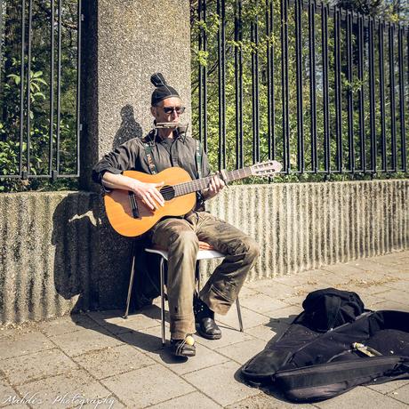Musician at the Vondelpark