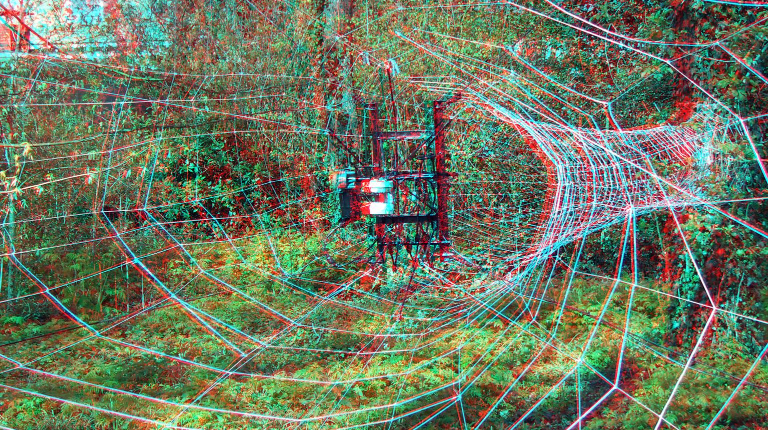 Beelden in Merwesteinpark Dordrecht 3D - 3D anaglyph stereo red/cyan - foto door hoppenbrouwers op 14-04-2021 - locatie: Dordrecht, Nederland - deze foto bevat: 3d,stereo,kunst, dordrecht, anaglyph, jelle, merwesteinpark, 3d, kunst, art, organisme, lettertype, cirkel, patroon, symmetrie, elektrisch blauw, parallel, helling, rechthoek, beeldende kunsten