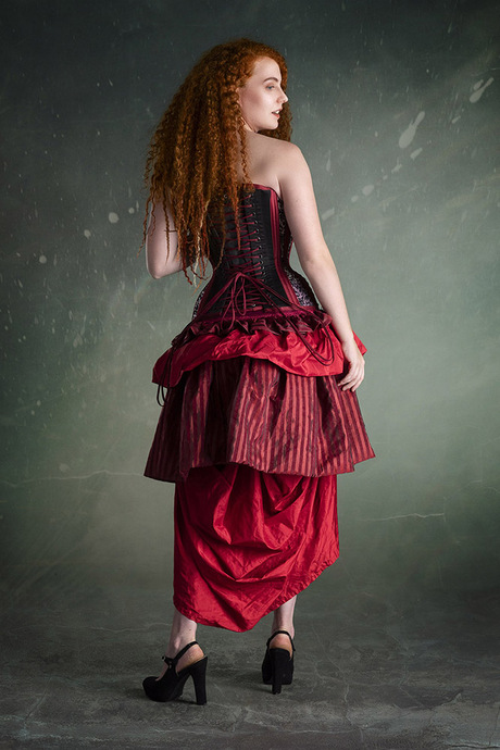 Redhead in Red Dress