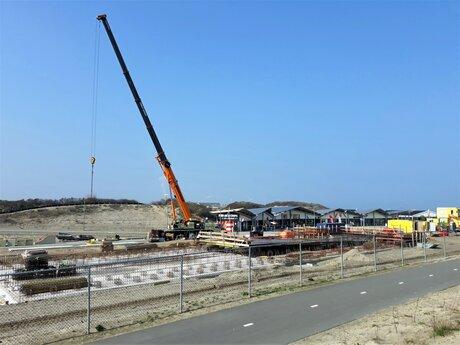 20210420 110338 H v H Strand  bouw lokatie Metro station 20 april 2021