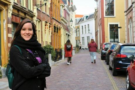 Katja in de binnenstad