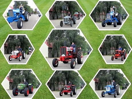 Collage Tractoren toerrit   De Lier  28 aug 2021