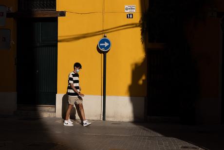 Blauw en geel