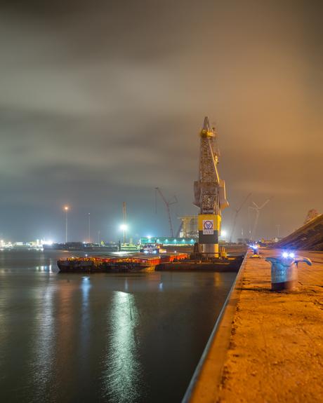 De haven van Vlissingen afgelopen nacht