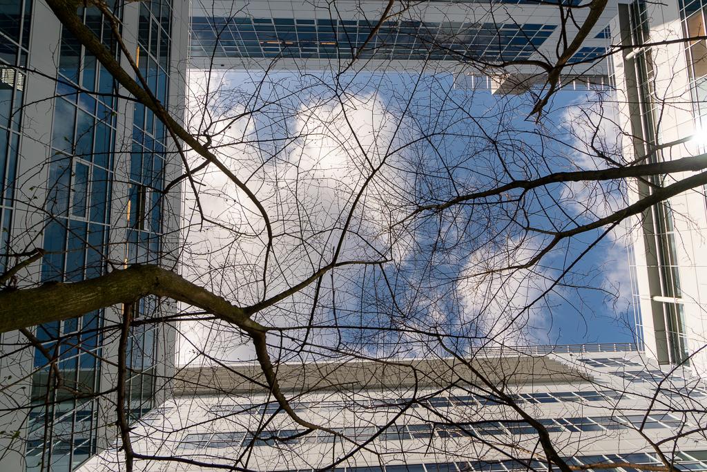 Den Haag 11 - XXX - foto door Jaap93 op 18-04-2021 - locatie: Den Haag, Nederland - deze foto bevat: den haag, wolk, gebouw, lucht, venster, azuur, afdeling, takje, bovengrondse hoogspanningslijn, elektriciteit, hout
