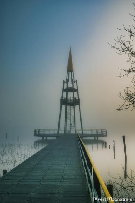 Een hele mistige ochtend bij het Sneekermeer!