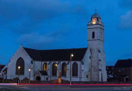 De witte kerk van Katwijk aan Zee