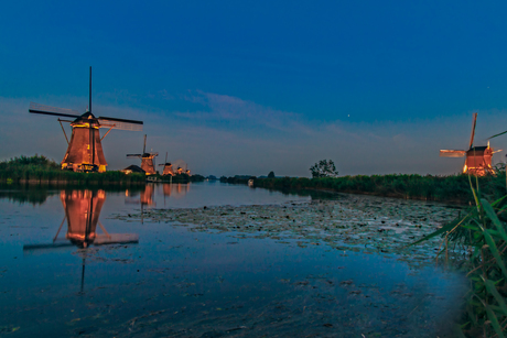 Verlichtingsweek Kinderdijk unesco world heritage