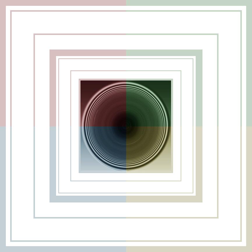 Creatief met kleuren - Mijn laatste nieuwe creatie. - foto door jos1953 op 13-04-2021 - locatie: Hasselt, België - deze foto bevat: rechthoek, serviesgoed, wimper, fotolijst, lettertype, serveware, patroon, cirkel, tinten en schakeringen, elektrisch blauw