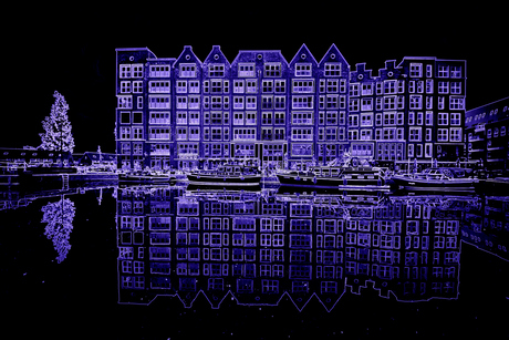 Straight blue reflection