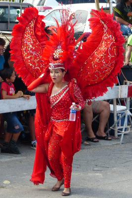 mooi rood is niet lelijk - carnaval - foto door Krea10 op 14-04-2021 - locatie: Aruba - deze foto bevat: schoenen, schoen, dans, been, uitvoerende kunst, vermaak, rood, hoofddeksel, dij, veer