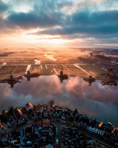 Sunrise at the Kingdom of Netherlands