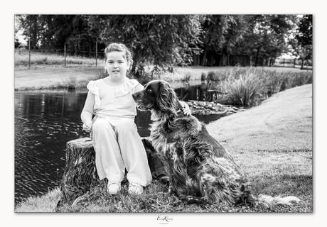 Lio en haar hond.