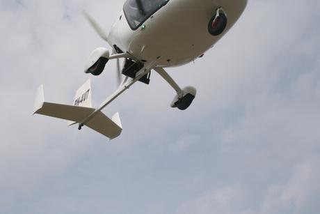 Detail van gyrocopter
